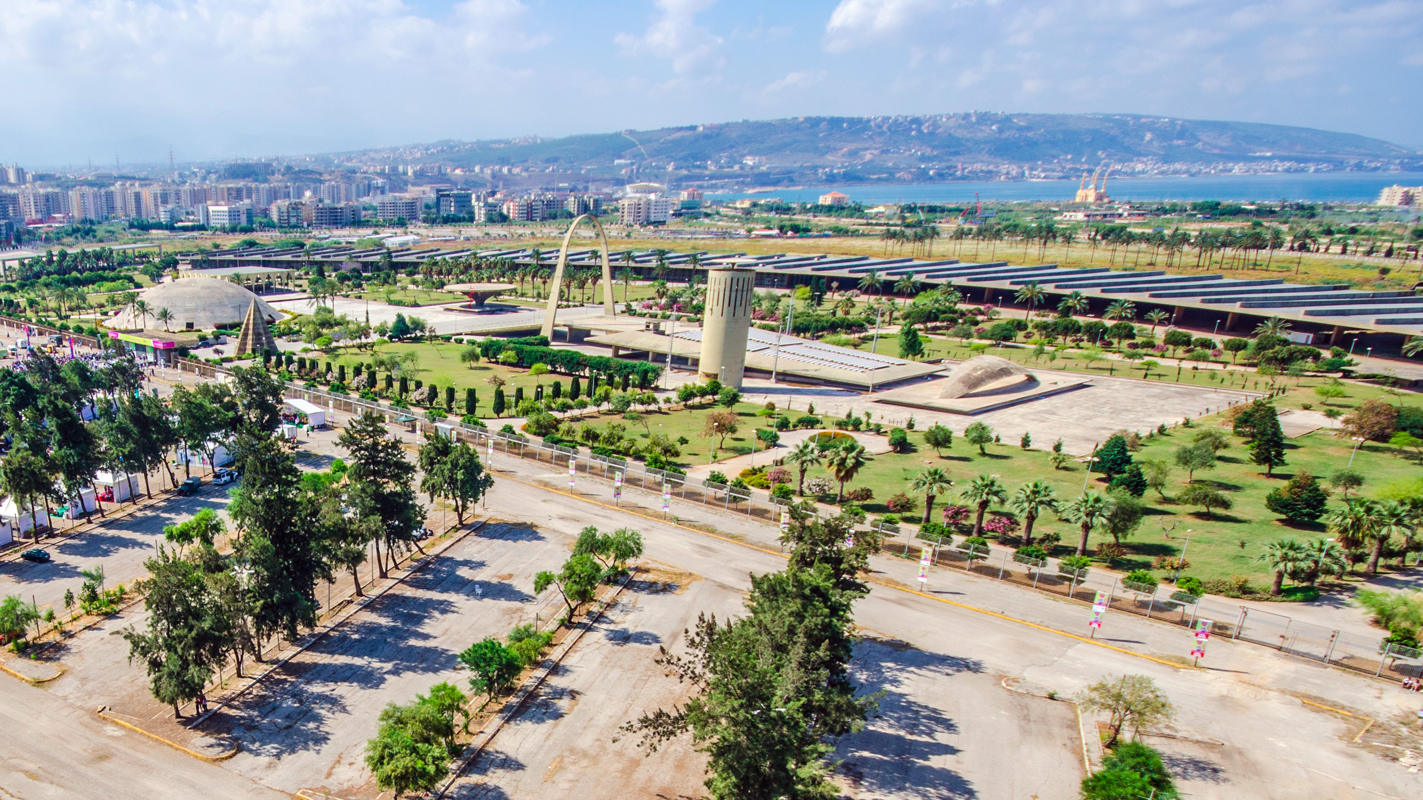 Oscar Niemeyer's Rachid Karami International Fair in Tripoli, Lebanon