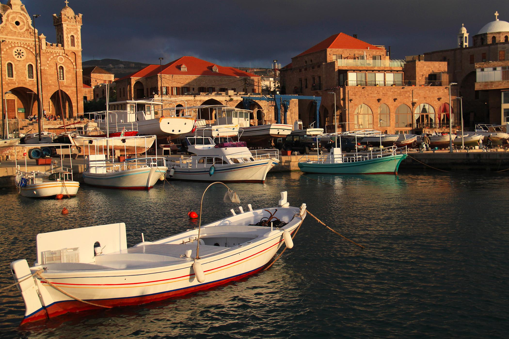 Batroun's fishing port